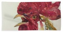 Rooster Bath Towel by Yoshiko Mishina