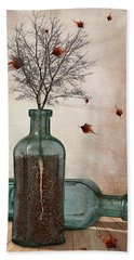 Rooted Bath Towel by Mihaela Pater