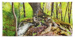 Rooted On The Rock Bath Towel