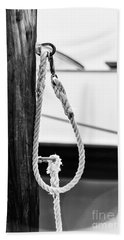 Rope Fence Fragment In Harbour Bath Towel