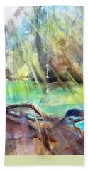 Rope Swing Bath Towel by Carlin Blahnik