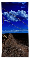Hand Towel featuring the photograph Rope The Road Ahead by Amanda Smith