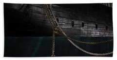 Ropes On The Uss Constellation Navy Ship Hand Towel