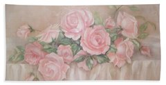 Rose Abundance Painting Hand Towel by Chris Hobel