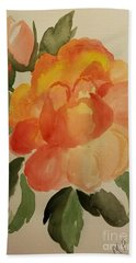 Rose And Rosebuds Bath Towel by Maria Urso