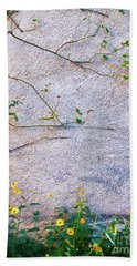 Hand Towel featuring the photograph Rose And Yellow Flowers by Silvia Ganora