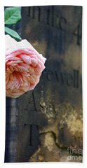 Rose At The Grave Bath Towel
