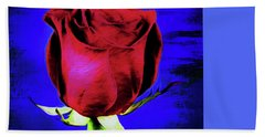 Rose - Beauty And Love  Bath Towel by Ray Shrewsberry