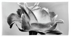 Rose Bloom In B W Hand Towel