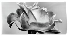 Rose Bloom In B W Bath Towel