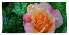 Hand Towel featuring the photograph Rose by Bonnie Willis