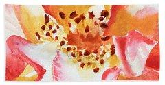Rose Close Up Painting By Irina Sztukowski Bath Towel