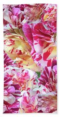 Rose Collage Hand Towel