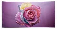 Rose Colorfull Hand Towel by Bess Hamiti