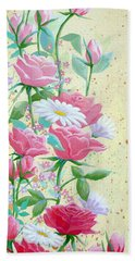 Rose Diptych 1 Hand Towel
