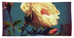 Rose Facing The Sun Bath Towel by Susan Lafleur