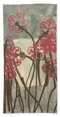 Rose Field Hand Towel by Artists With Autism Inc