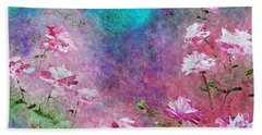 Rose Garden Hand Towel by Claire Bull