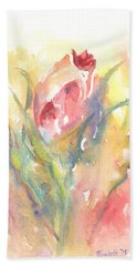 Rose Garden One Bath Towel by Elizabeth Lock