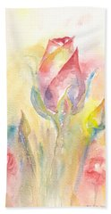 Rose Garden Two Hand Towel by Elizabeth Lock