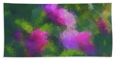 Rose Impression Bath Towel by Aliceann Carlton
