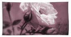 Rose In Rose Bath Towel by Susan Lafleur