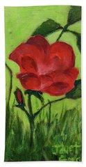Rose Hand Towel