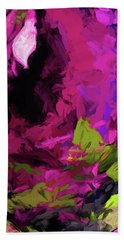 Rose Magenta Bath Towel