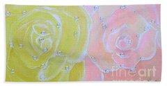 Rose Medley With Dewdrops Bath Towel
