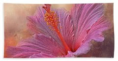 Rose Of Sharon Texture Hand Towel