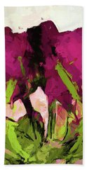 Rose Romantica Magenta Green Bath Towel