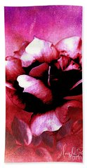 Rose Rose  Copyright Mary Lee Parker  Hand Towel by MaryLee Parker