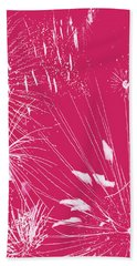 Hand Towel featuring the digital art Rose Splash by Methune Hively