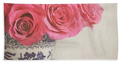 Hand Towel featuring the photograph Rose Tea by Lyn Randle