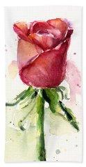 Rose Watercolor Hand Towel