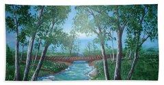 Roseanne And Dan Connor's River Bridge Hand Towel