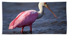 Roseate Spoonbill, Myakka River State Park, Florida Bath Towel