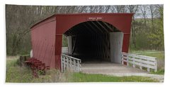 Roseman Covered Bridge - Madison County - Iowa Hand Towel