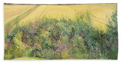 Roses And Cornfield Hand Towel