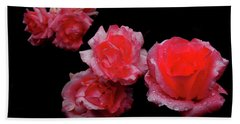 Roses And Rain Bath Towel