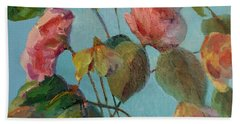 Roses And Wildflowers Hand Towel