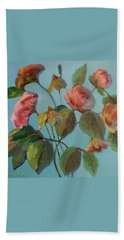 Roses And Wildflowers Bath Towel