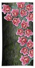 Roses Climbing Pillar Bath Towel