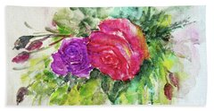 Roses For You Hand Towel by Jasna Dragun