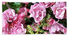 Roses From The Garden Hand Towel