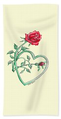 Roses Hearts Lace Flowers Transparency       Bath Towel
