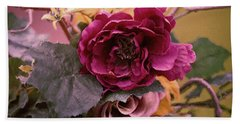 Roses In Oils Bath Towel