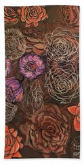 Roses In Time Bath Towel