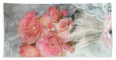 Roses On My Pillow Bath Towel