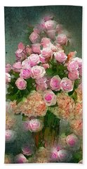 Roses Pink And Shabby Chic Bath Towel